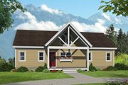 Country Style House Plan - 2 Beds 2 Baths 1304 Sq/Ft Plan #932-55 Exterior - Front Elevation