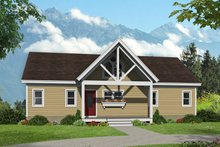 Dream House Plan - Country Exterior - Front Elevation Plan #932-55
