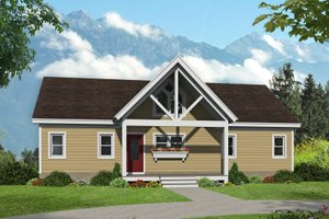 Country Exterior - Front Elevation Plan #932-55