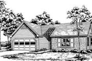 Traditional Style House Plan - 3 Beds 2 Baths 1245 Sq/Ft Plan #30-117 Exterior - Front Elevation