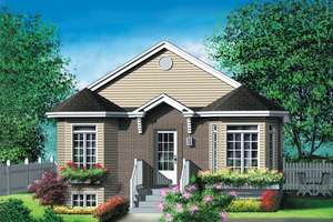 Cottage Exterior - Front Elevation Plan #25-140