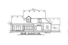 Dream House Plan - Traditional Exterior - Rear Elevation Plan #20-1867