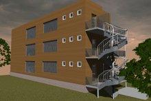 Contemporary Exterior - Rear Elevation Plan #535-19