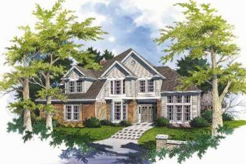 Traditional Exterior - Front Elevation Plan #48-140 - Houseplans.com