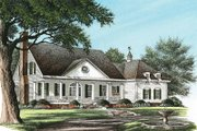Southern Style House Plan - 4 Beds 3 Baths 3144 Sq/Ft Plan #137-149 Exterior - Front Elevation