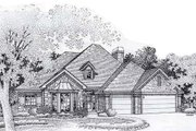 European Style House Plan - 4 Beds 3 Baths 2192 Sq/Ft Plan #310-807 Exterior - Front Elevation