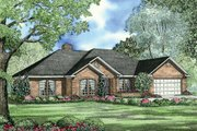 Traditional Style House Plan - 4 Beds 2.5 Baths 2107 Sq/Ft Plan #17-146 Exterior - Front Elevation