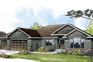 Craftsman Exterior - Front Elevation Plan #124-842