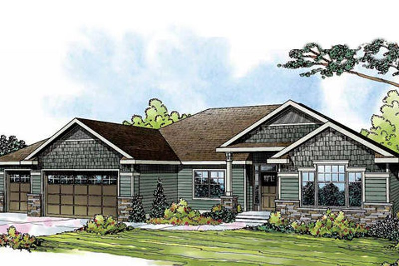 Craftsman Exterior - Front Elevation Plan #124-842 - Houseplans.com