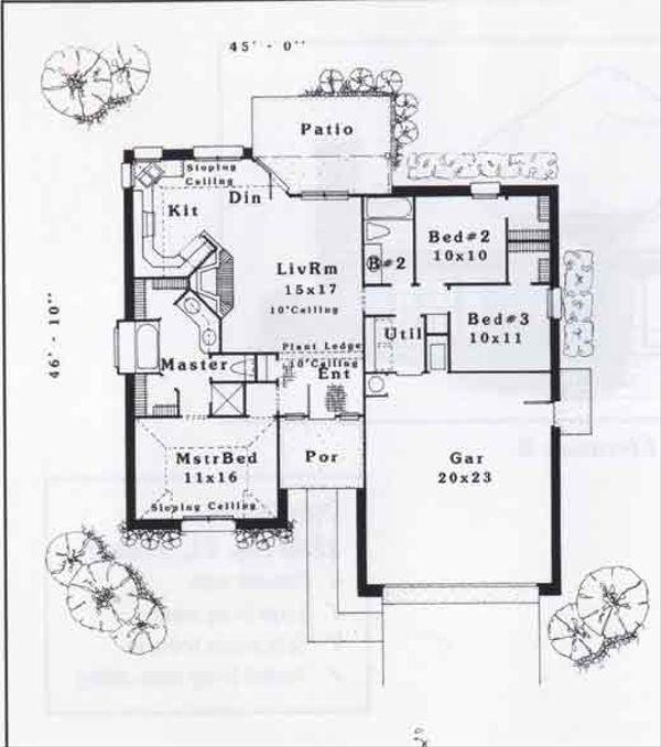Traditional Floor Plan - Main Floor Plan #310-887