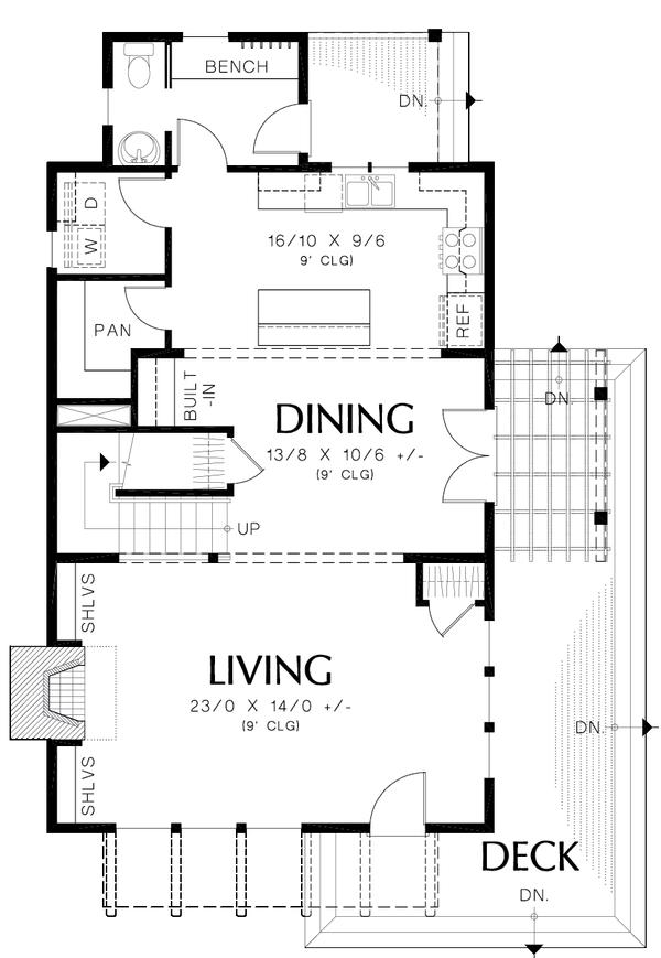 Colonial Floor Plan - Main Floor Plan Plan #48-1008