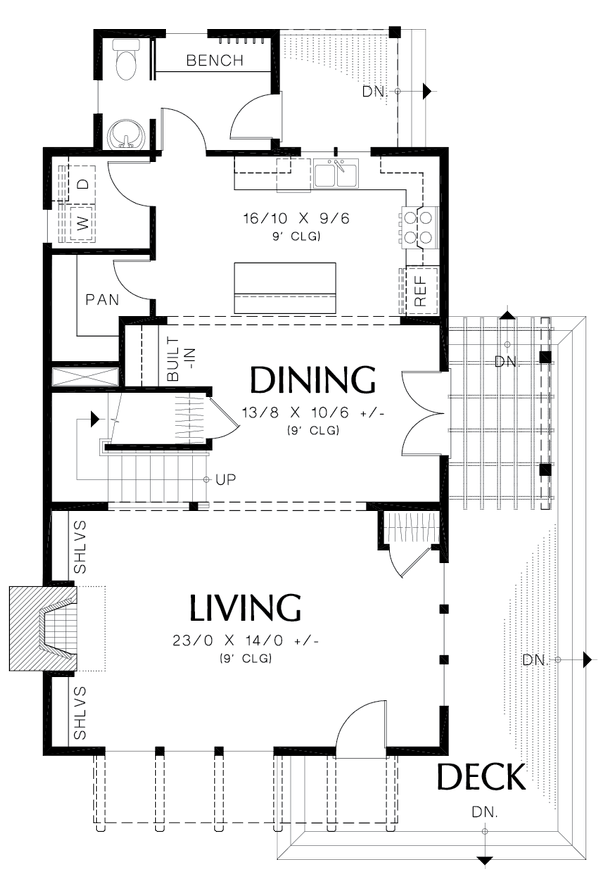 Colonial Floor Plan - Main Floor Plan #48-1008
