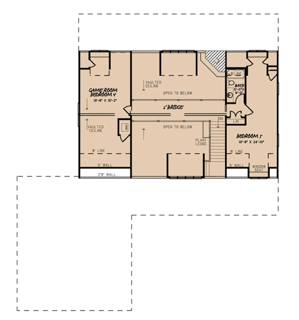 Farmhouse Floor Plan - Upper Floor Plan Plan #923-106