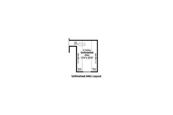 Home Plan - Ranch Floor Plan - Upper Floor Plan #124-1191