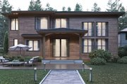 Contemporary Style House Plan - 5 Beds 4.5 Baths 4441 Sq/Ft Plan #1066-21 Exterior - Rear Elevation