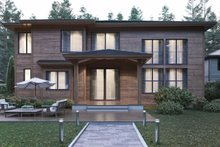 Contemporary Exterior - Rear Elevation Plan #1066-21