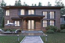 House Plan Design - Contemporary Exterior - Rear Elevation Plan #1066-21