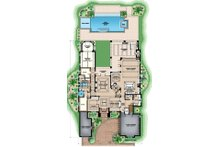 Beach Floor Plan - Main Floor Plan Plan #27-541
