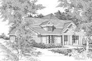 Traditional Style House Plan - 3 Beds 3 Baths 1532 Sq/Ft Plan #329-191 Exterior - Front Elevation