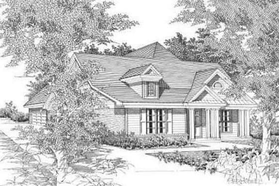 Traditional Exterior - Front Elevation Plan #329-191
