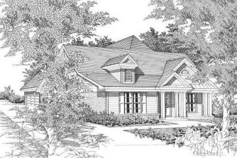 Traditional Style House Plan - 3 Beds 3 Baths 1532 Sq/Ft Plan #329-191