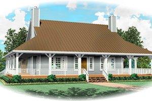 Farmhouse Exterior - Front Elevation Plan #81-13813
