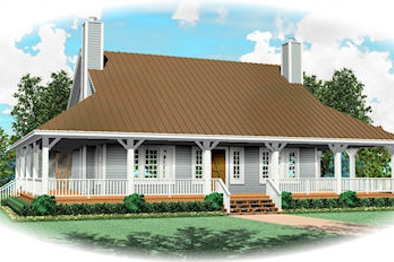 Farmhouse Style House Plan - 3 Beds 3 Baths 2300 Sq/Ft Plan #81-13813