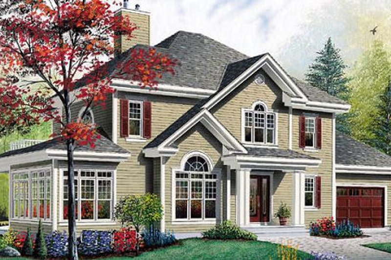 Architectural House Design - Traditional Exterior - Front Elevation Plan #23-371
