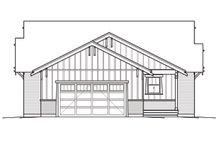 Bungalow Exterior - Rear Elevation Plan #434-3