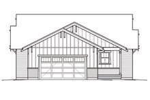 Home Plan - Bungalow Exterior - Rear Elevation Plan #434-3