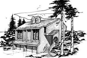 Modern Exterior - Front Elevation Plan #303-255