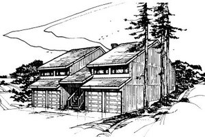 Modern Exterior - Front Elevation Plan #303-246