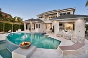 Contemporary Style House Plan - 5 Beds 8 Baths 6001 Sq/Ft Plan #548-25 Exterior - Rear Elevation