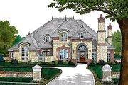 European Style House Plan - 4 Beds 3.5 Baths 3168 Sq/Ft Plan #310-432