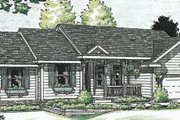 Ranch Style House Plan - 3 Beds 2.5 Baths 1842 Sq/Ft Plan #20-578 Exterior - Front Elevation
