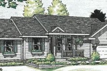 Dream House Plan - Ranch Exterior - Front Elevation Plan #20-578