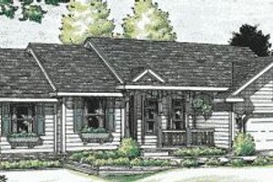Ranch Exterior - Front Elevation Plan #20-578