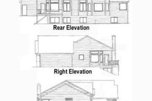 Craftsman Exterior - Rear Elevation Plan #58-180