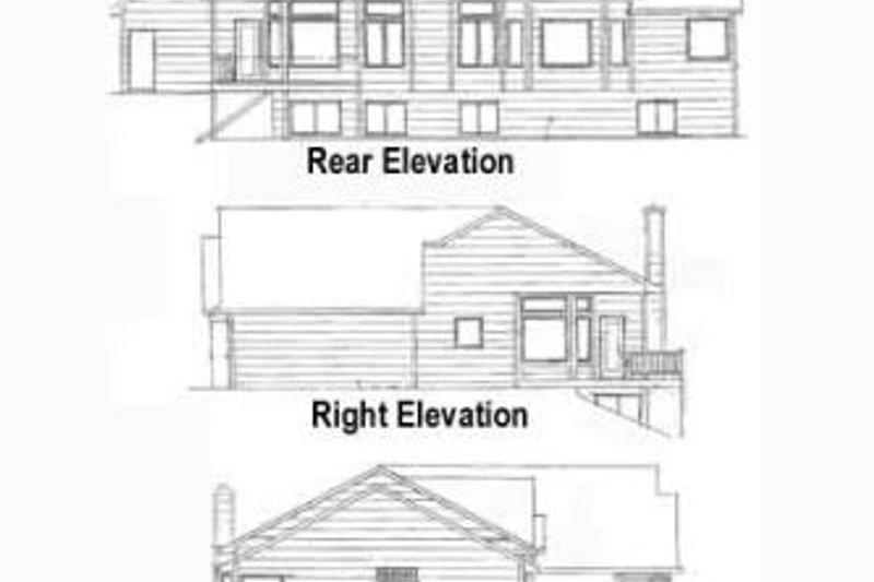 Craftsman Exterior - Rear Elevation Plan #58-180 - Houseplans.com