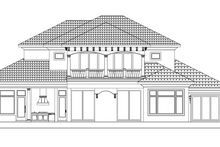 Dream House Plan - Mediterranean Exterior - Rear Elevation Plan #1017-169
