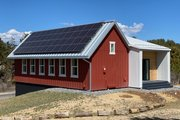 Farmhouse Style House Plan - 2 Beds 2 Baths 996 Sq/Ft Plan #933-10 Exterior - Rear Elevation