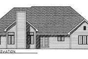 Traditional Style House Plan - 3 Beds 2 Baths 2380 Sq/Ft Plan #70-378 Exterior - Rear Elevation