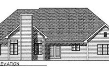 House Plan Design - Traditional Exterior - Rear Elevation Plan #70-378