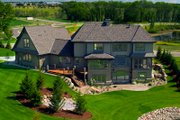 European Style House Plan - 3 Beds 2.5 Baths 3715 Sq/Ft Plan #51-370 Exterior - Rear Elevation