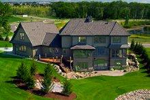 European style home, rear elevation