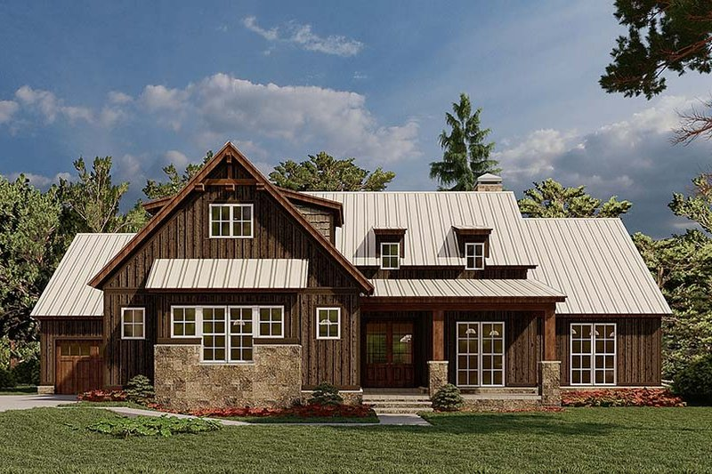 Farmhouse Style House Plan - 4 Beds 2.5 Baths 2113 Sq/Ft Plan #923-181 Exterior - Front Elevation
