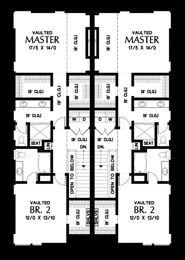 Dream House Plan - Contemporary Floor Plan - Upper Floor Plan #48-1020