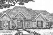 European Style House Plan - 3 Beds 3 Baths 2116 Sq/Ft Plan #310-430 Exterior - Front Elevation