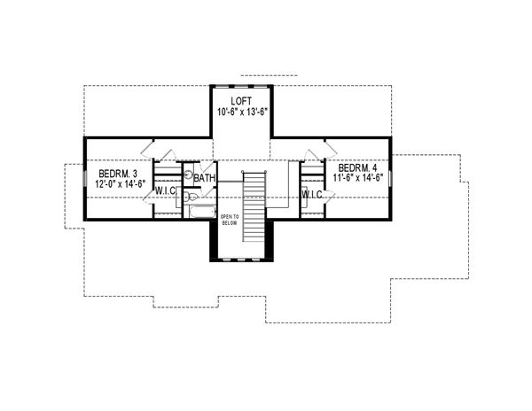 House Plan Design - Ranch Floor Plan - Upper Floor Plan #920-83