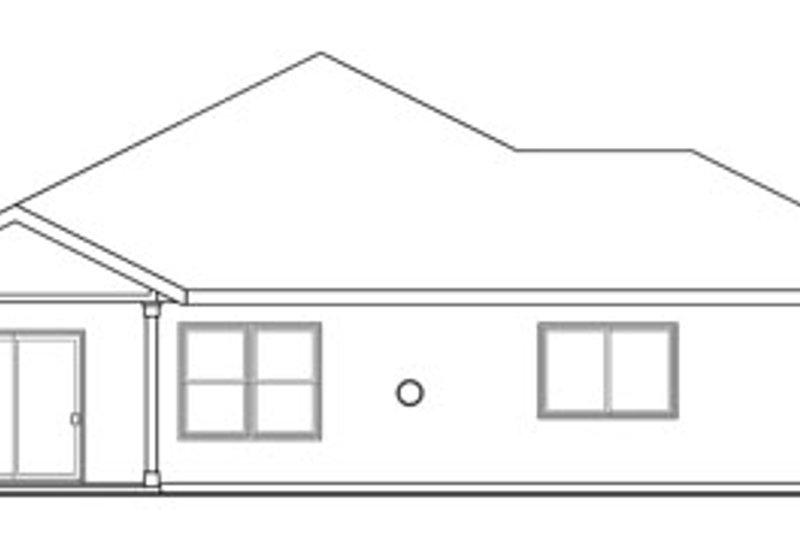 Craftsman Exterior - Rear Elevation Plan #124-780 - Houseplans.com